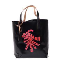 マルニ Marni TRIBECAショッピングバッグ PVC ブラックレッド