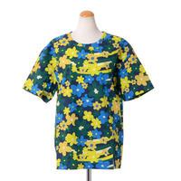マルニ Marni RainbowflowerプリントTシャツ コットンシャツ イエローミックス
