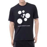 ブラックバレット BLACKBARRETT バイニールバレット by neil barrett バスケットボールプリントクルーネック半袖Tシャツ ブラック