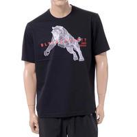 ブラックバレット BLACKBARRETT バイニールバレット by neil barrett 3Dメッシュタイガープリントクルーネック半袖Tシャツ コットン ブラック