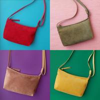New!秋の新作 洗えるレザーミニサコッシュ  【New! Autumn item! Washable Mini Crossbody Bag】