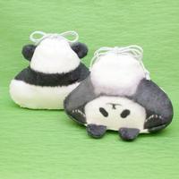 祝☆双子パンダのふわふわ巾着袋【Panda pouch】