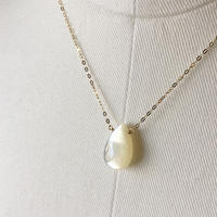 <online限定>  白蝶貝 1粒ネックレス 【K10】