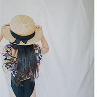 kids★Flower frill swim  wear(hair band set)