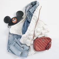 【ladies】pompom  sleeve knit cardigan