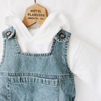 Baby★denim rompers×Hooded tops 2SET