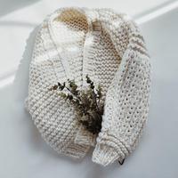 【ladies】volume handmade knit cardigan