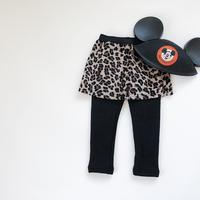 kids★leopard leggings skirt