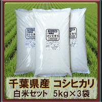 平成30年 千葉県産 コシヒカリ白米セット (5kg×3袋)15kg