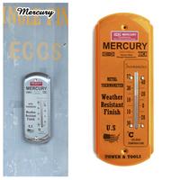 MERCURY サーモメーターロング オレンジ 温度計