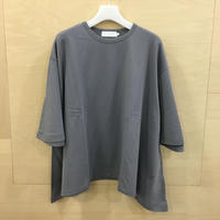 Graphpaper / GL191 70097 / Sweat S/S Irregular Hem Tee (GRAY)