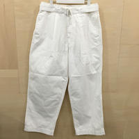 Graphpaper / GM201 40062B / Military Cloth Belted Pants (WHITE)