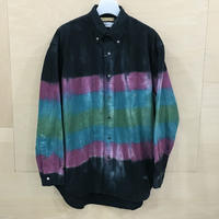 FUTUR x Graphpaper / GM194 50701 / Tie & Dyed Oxford L/S B.D Box Shirt (PURPLE & GREEN)