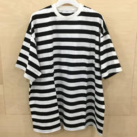Graphpaper / GU211 70146B / Border S/S Pocket Tee (WHITE BLACK)