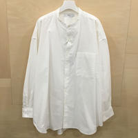 Graphpaper / GM201 50111B / Oxford Oversized Band Collar Shirt (WHITE)