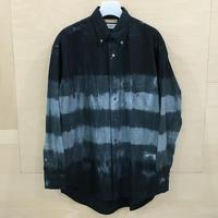 FUTUR x Graphpaper / GM194 50701 / Tie & Dyed Oxford L/S B.D Box Shirt (GRAY)