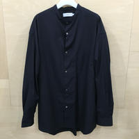 Graphpaper / GM203 50111B / Broad Oversized L/S Band Collar Shirt (NAVY)