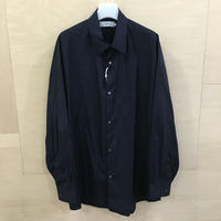 Graphpaper / GM193 50107B / Broad Reguler Collar Oversized Shirt (NAVY)