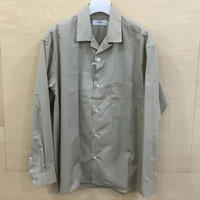Graphpaper / GU192 50524C / Broad Open Collar Shirt (BEIGE) casa gucca 別注