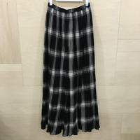 Graphpaper / GL193 40032 / Check Pleats Pants (BLACK CH)