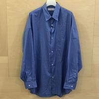 Graphpaper / GM193 50107B / Broad Reguler Collar Oversized Shirt (BLUE)
