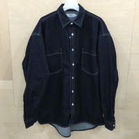 Graphpaper / GM211 50077B / Denim Regular Collar Shirt (INDIGO)