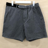 Graphpaper / GM211 40116B / Colorfast Denim Wide Chef Shorts (GRAY)