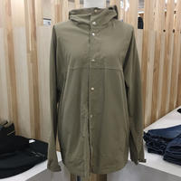 YAECA / 174107 / CLOTH HOODED SHIRT LONG (KHAKI)