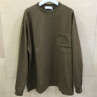 Graphpaper / GU193 70025 / Heavy Weight L/S Oversized Tee (KHAKI)