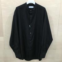 Graphpaper / GM201 50092B / Broad L/S Oversized Band Collar Shirt (BLACK)