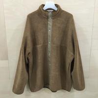 Graphpaper / GU193 70042 / Wool Boa High Neck Full Open Blouson (BEIGE)