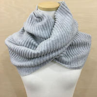 DESIGN HOUSE / PLEECE LONG SCARF (LIGHT GRAY)