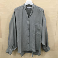 Graphpaper / GL201 50019 / Viscose Band Collar Big Sleeve Shirt (GRAY)
