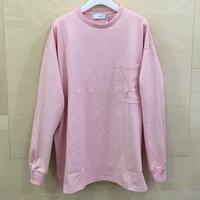 Graphpaper / GU193 70025 / Heavy Weight L/S Oversized Tee (PINK)