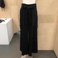 Graphpaper / GL18140020 / Satin High Waist  Belt Pants (BLACK)