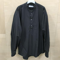 Graphpaper / GM211 50060B / Broad Oversized Band Collar Pullover Shirt (C.GRAY)