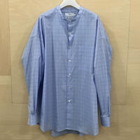 Graphpaper / GM201 50029 / Thoms Mason Oversized Band Collar Shirt (BLUE CH)