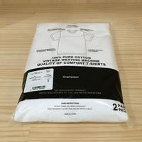 Graphpaper / GM211 70185B / 2 Pack Crew Neck Tee (WHITE)