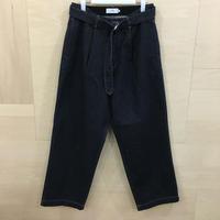 Graphpaper  / GU191 40051B / Colorfast Denim Belted Pants (DENIM)