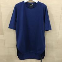 ATON / SUVIN 60/2 ROUND HEM T SHIRT (BLUE)