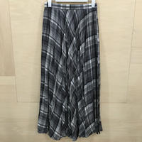 Graphpaper / GU203 40066 / Tencel Check Pleats Skirt (GRY BLK)