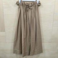 Graphpaper / GL201 40023 / Viacose Squared Skirt (BEIGE)