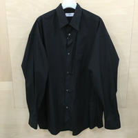 Graphpaper / GM211 50110B / Broad Oversized L/S Regular Collar Shirt (BLACK)