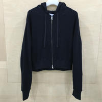 Graphpaper / GL211 70199B / Waffle Short Length Zip Up Hoodie (NAVY)