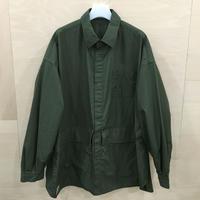 Fresh Service / FSW 20 SH 01 / Cargo Pocket Reguler Collar Utility Shirt (KHAKI)