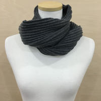 DESIGN HOUSE / PLEECE SHORT SCARF (DARK GRAY)