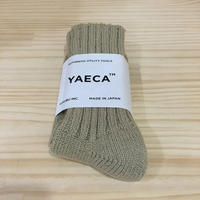 YAECA / 19901 / COTTON SILK ソックス (KHAKI)