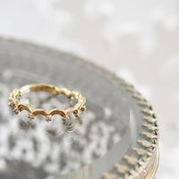 K10YG/【SEIGAIHA / 青海波】ダイヤリング  K10 Diamond Ring(R10040Y)
