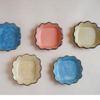 花形4寸皿