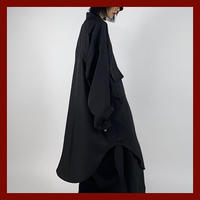 oversize black long shirt